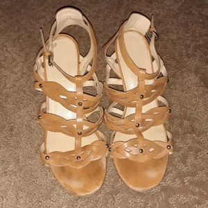 Ivanka Trump strappy wedge sandals